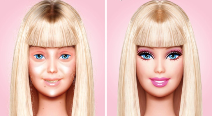 Barbie zonder make-up