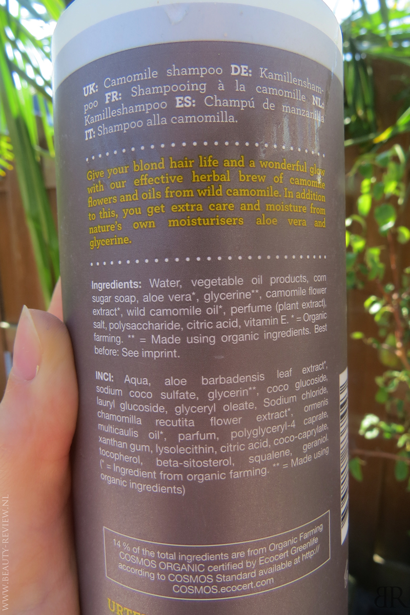 Urtekram Kamilleshampoo ingredienten