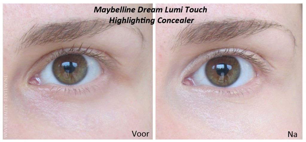 Maybelline Dream Lumi Touch Highlighting Concealer op oog