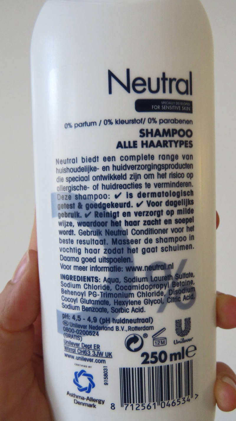 Neutral Shampoo Normaal ingredient